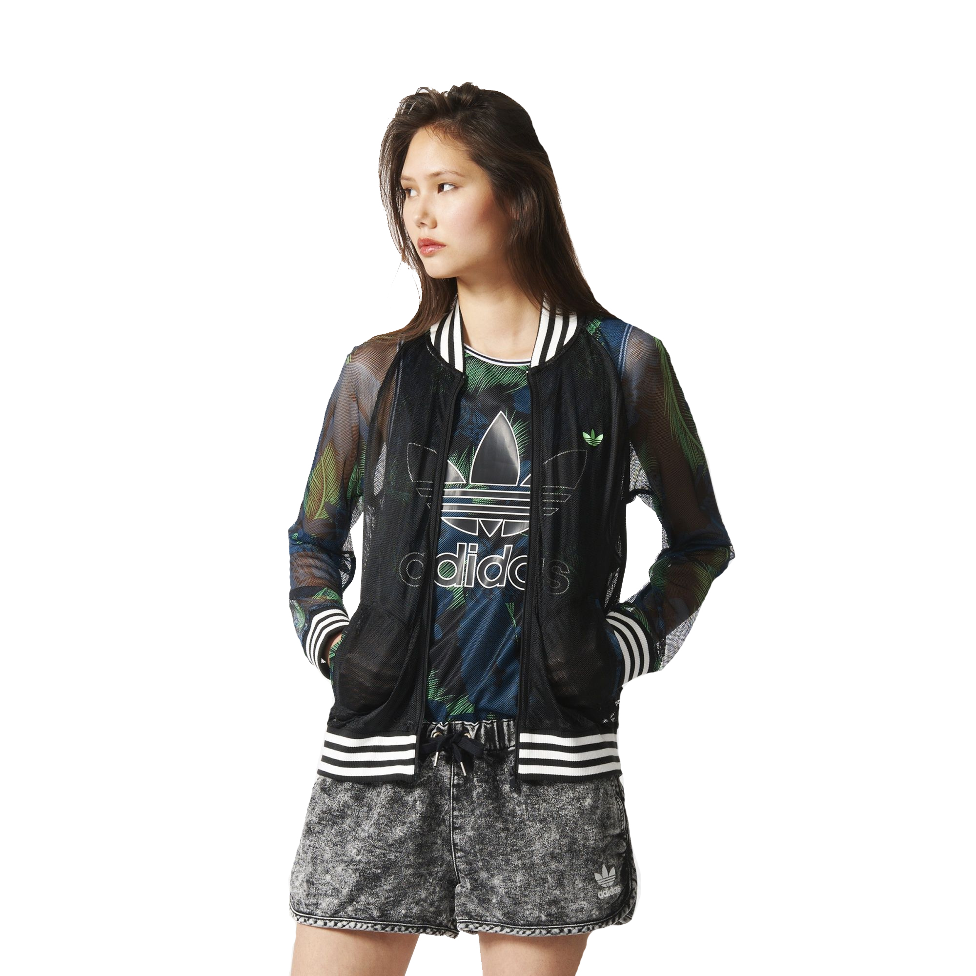 adidas originals womens hawaii print superstar track top mesh tracksuit jacket ebay. Black Bedroom Furniture Sets. Home Design Ideas