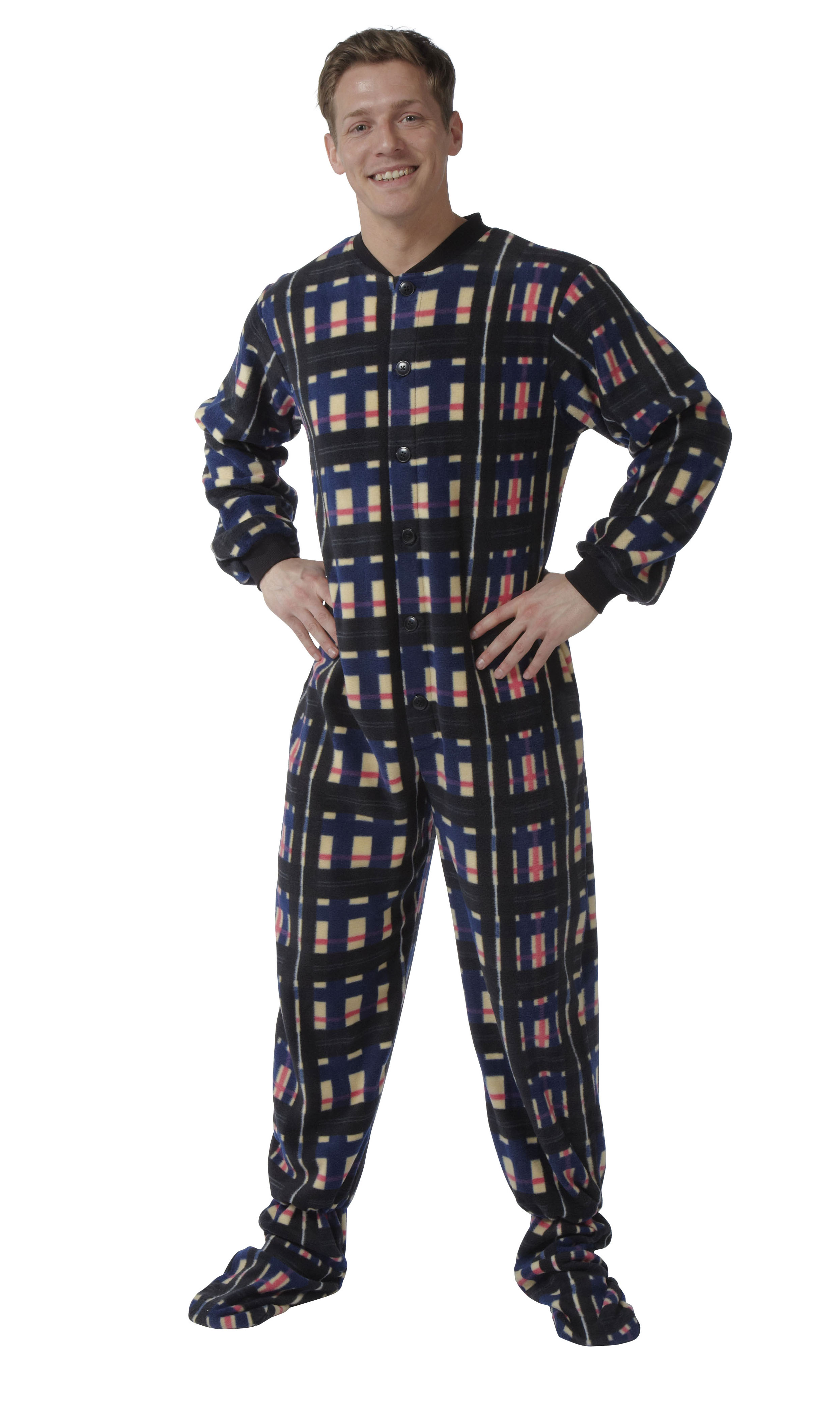 snuggaroo herren schlafanzug einteiler onesie fleece ebay. Black Bedroom Furniture Sets. Home Design Ideas