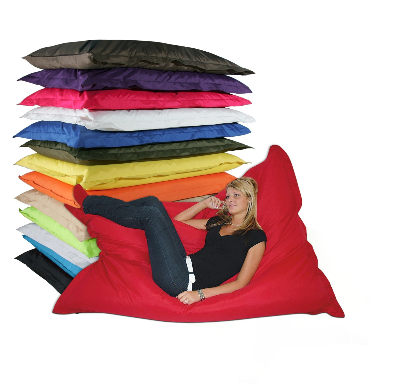 Riesen sitzsack sitzsack sitzs cke sessel kissen for Riesen couch