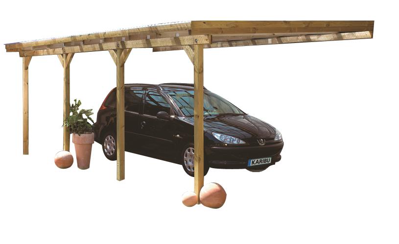 karibu anlehn carport vers ausf hrungen carport carports garage ebay. Black Bedroom Furniture Sets. Home Design Ideas