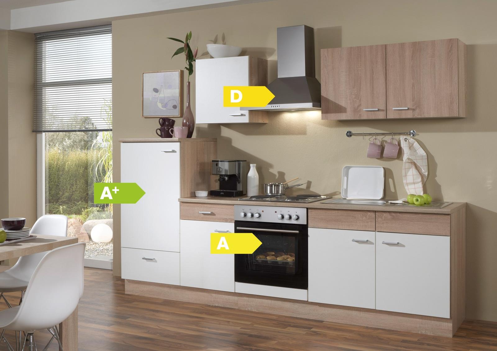 Menke Küchen Küchenzeile Sonja 270 cm ohne Geschirrspüler