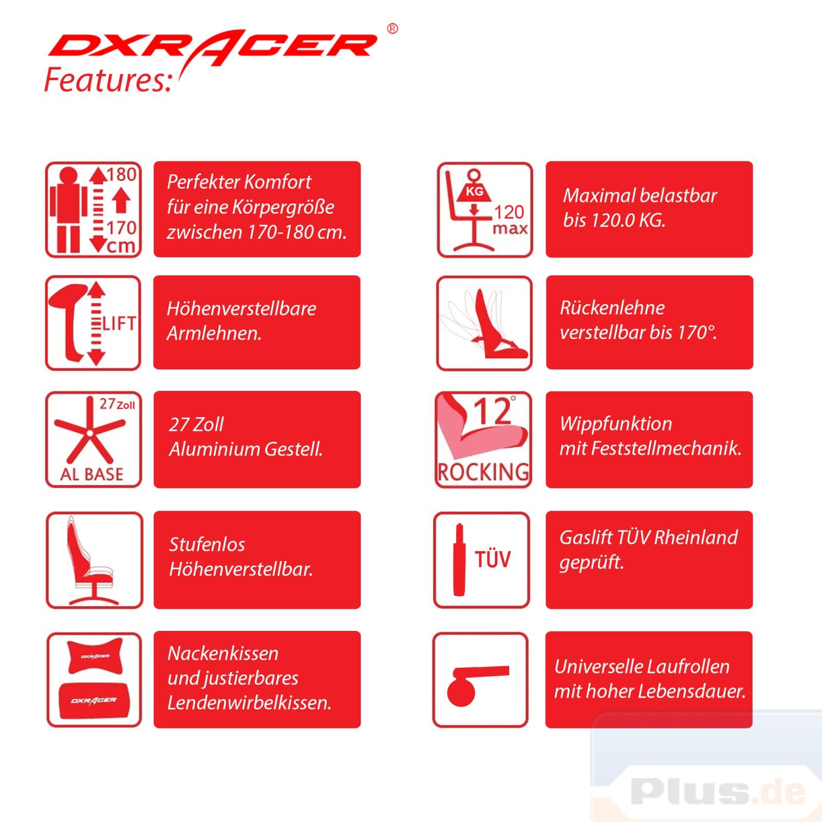 dxracer 3 b rostuhl drehstuhl design top kaufen auf. Black Bedroom Furniture Sets. Home Design Ideas