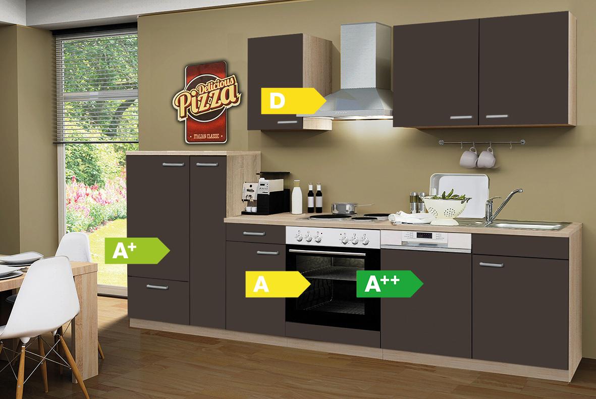 menke k chen k chenzeile classic 300 cm inkl geschirrsp ler k chenblock k che ebay. Black Bedroom Furniture Sets. Home Design Ideas