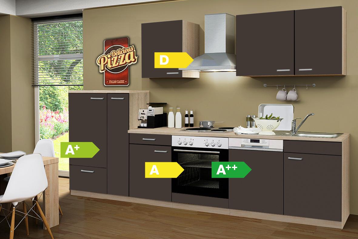 Menke kuchen kuchenzeile classic 310 cm kuchenblock for Komplett küchen küchenzeile