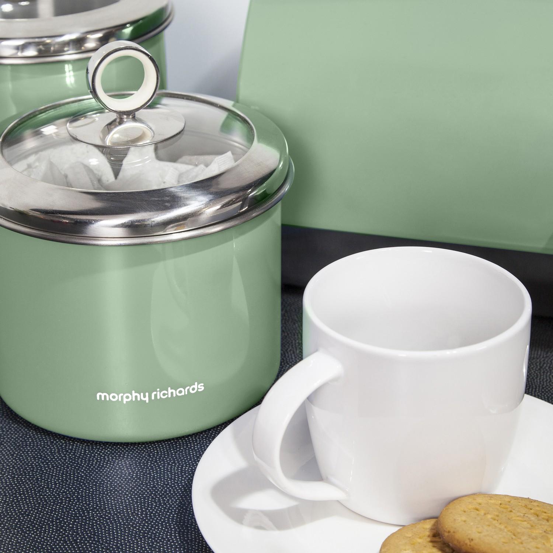 Sage Green Kitchen Storage Jars: MORPHY RICHARDS TEA COFFEE SUGAR BISCUIT CAKE KITCHEN
