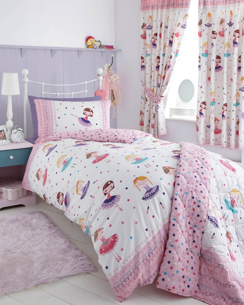 Childrens Kids Quilt Duvet Cover Pillowcases Bedding Set With Matching Curtains Ebay