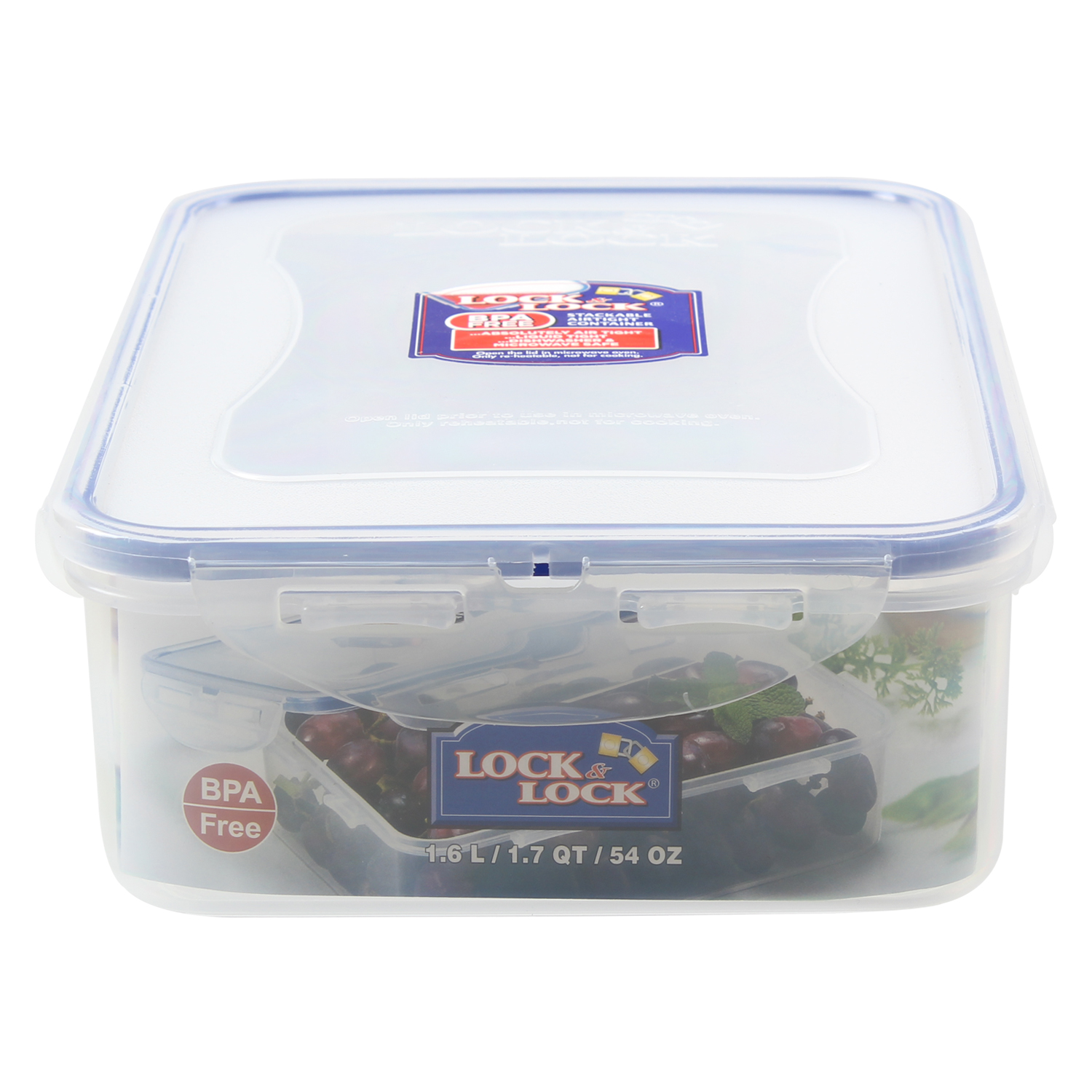Lock lock 1 6l stackable rectangular food storage for Decor 6l container