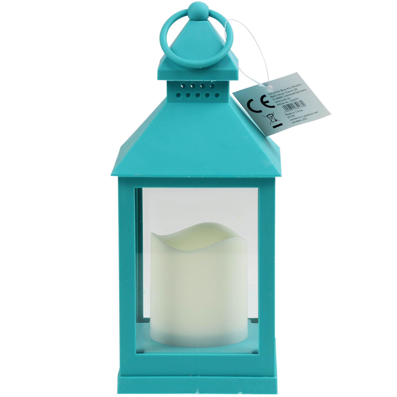Led Lantern Lamp Blue Outdoor Garden Patio Porch Party