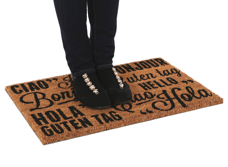 Stylish Front Large Non Slip Coir Doormats Pvc Mat Home