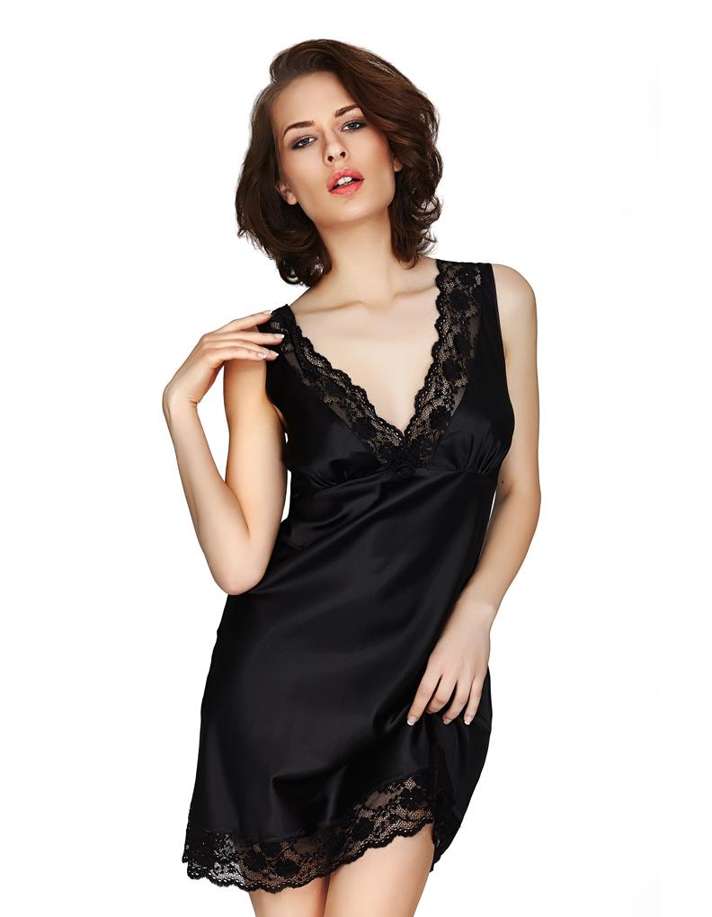 mio lounge venice black nightdress 131516b ebay. Black Bedroom Furniture Sets. Home Design Ideas