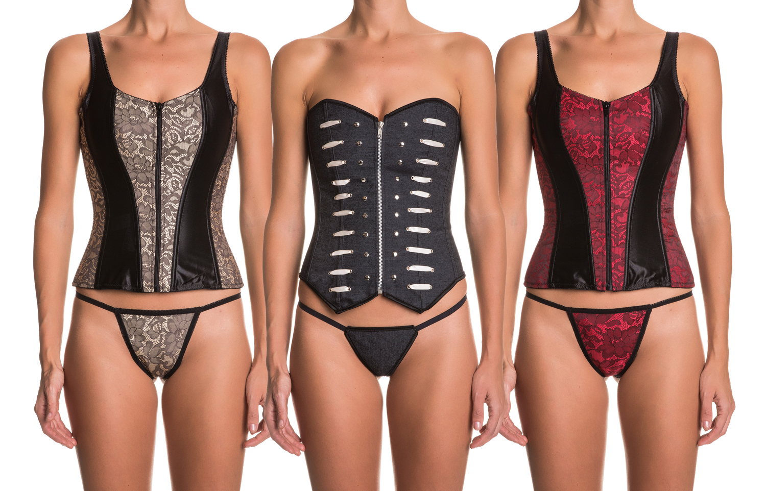 Intimax Zip up corsets