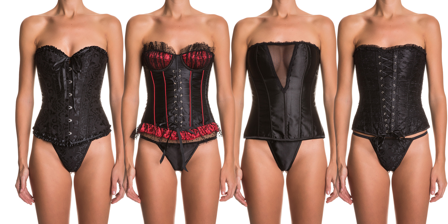 Intimax black corsets for a sexy look