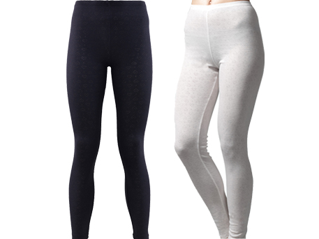 Thermal leggins in white or black