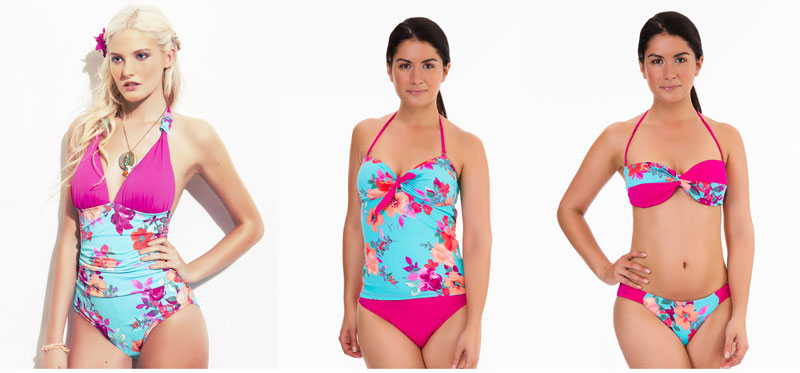 mio swim garden party floral collection