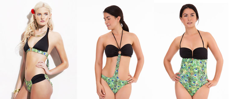 mio swim emerald peacock swimwear