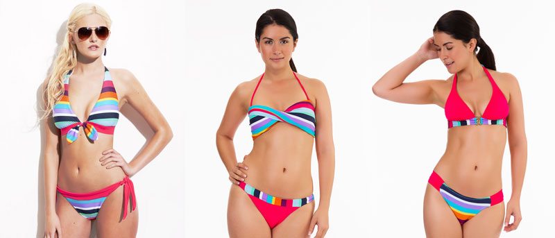mio swim sunchine prism stripy swimwear