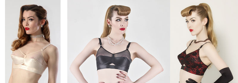 vintage bullet bras from what katie did