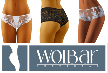 Wolbar Essential Black and White briefs with lace and embroidery