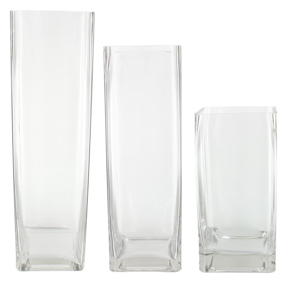 Square glass vase ebay