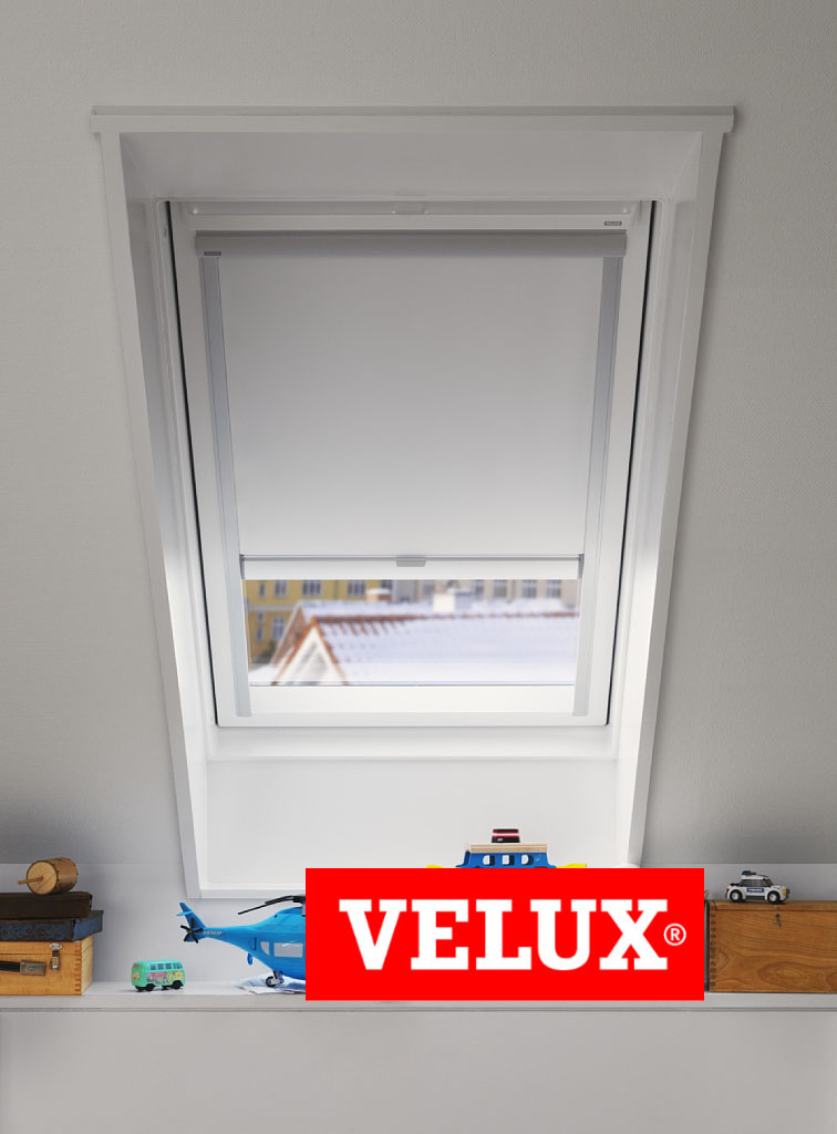 originelles velux verdunkelungsrollo f r velux dachfenster in vielen farben ebay. Black Bedroom Furniture Sets. Home Design Ideas