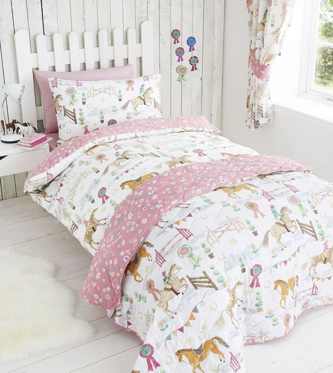 show time duvet quilt cover daisy prize girls single bedding set pink