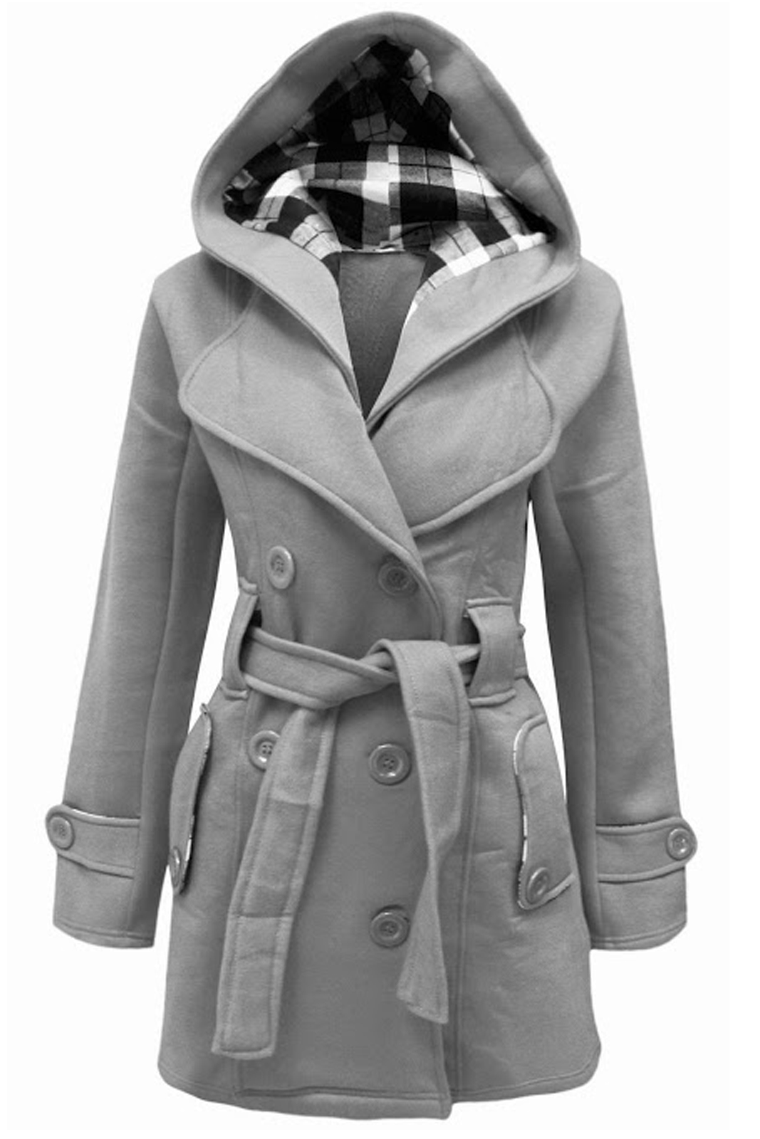 Cexi Couture Womens Ladies Double Breasted Fleece Winter ...