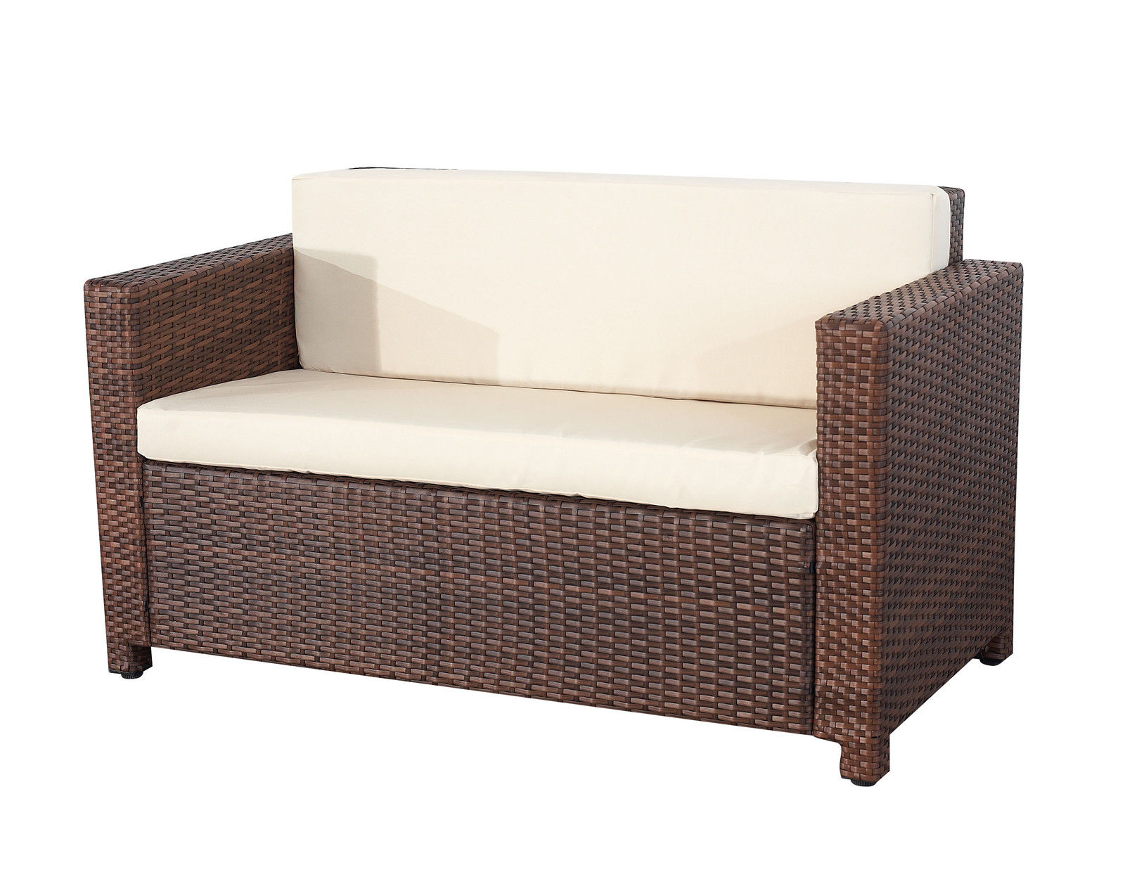Evre-Rome-4PCS-Weatherproof-Outdoor-Furniture-Set-Durable-Rattan-Brown
