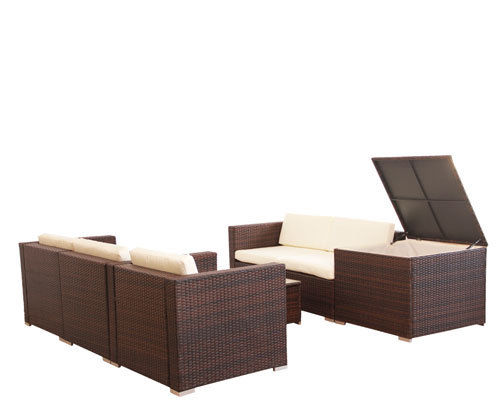 Superb Evre Rattan Furniture Set For In Outdoors Table