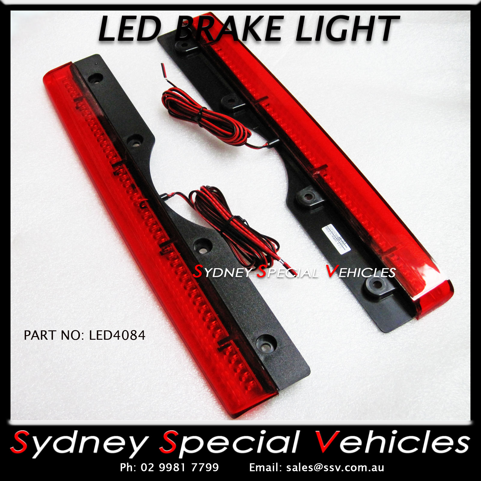 REPLACEMENT-LED-BRAKE-LIGHT-FOR-REAR-WING-SPOILER-408-mm