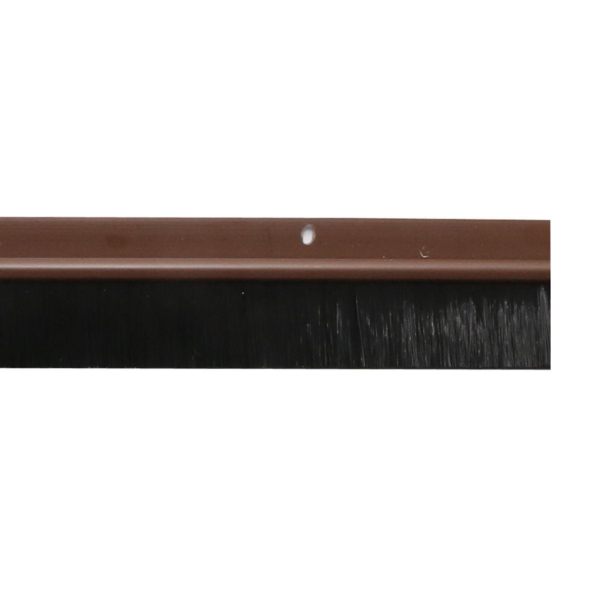 914mm door bottom brush draught excluder sweep seal white for Door excluder