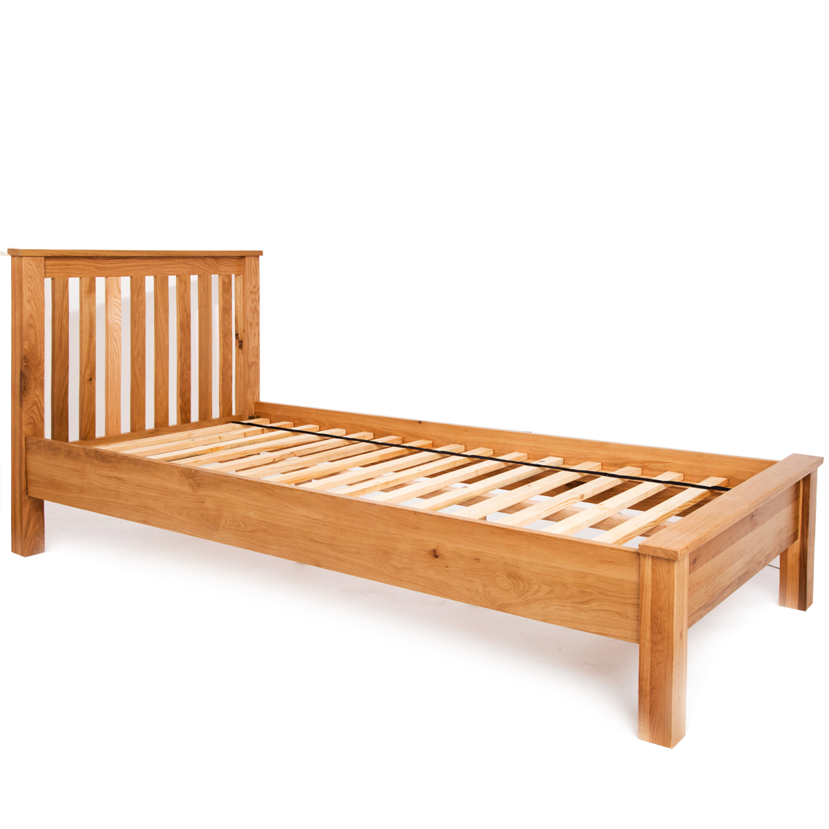3ft Single Bed Frame Low End Bedstead Solid Wood Natural