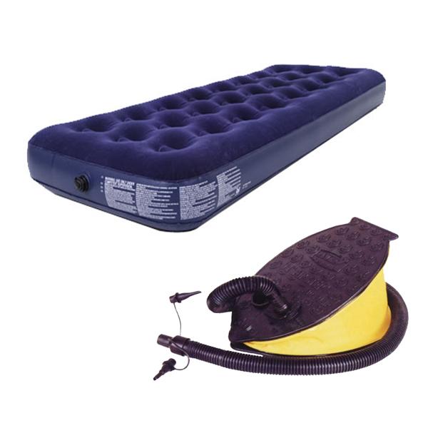 1 personen single luftmatratze g stebett matratze luftbett mit pumpe campingbett ebay. Black Bedroom Furniture Sets. Home Design Ideas