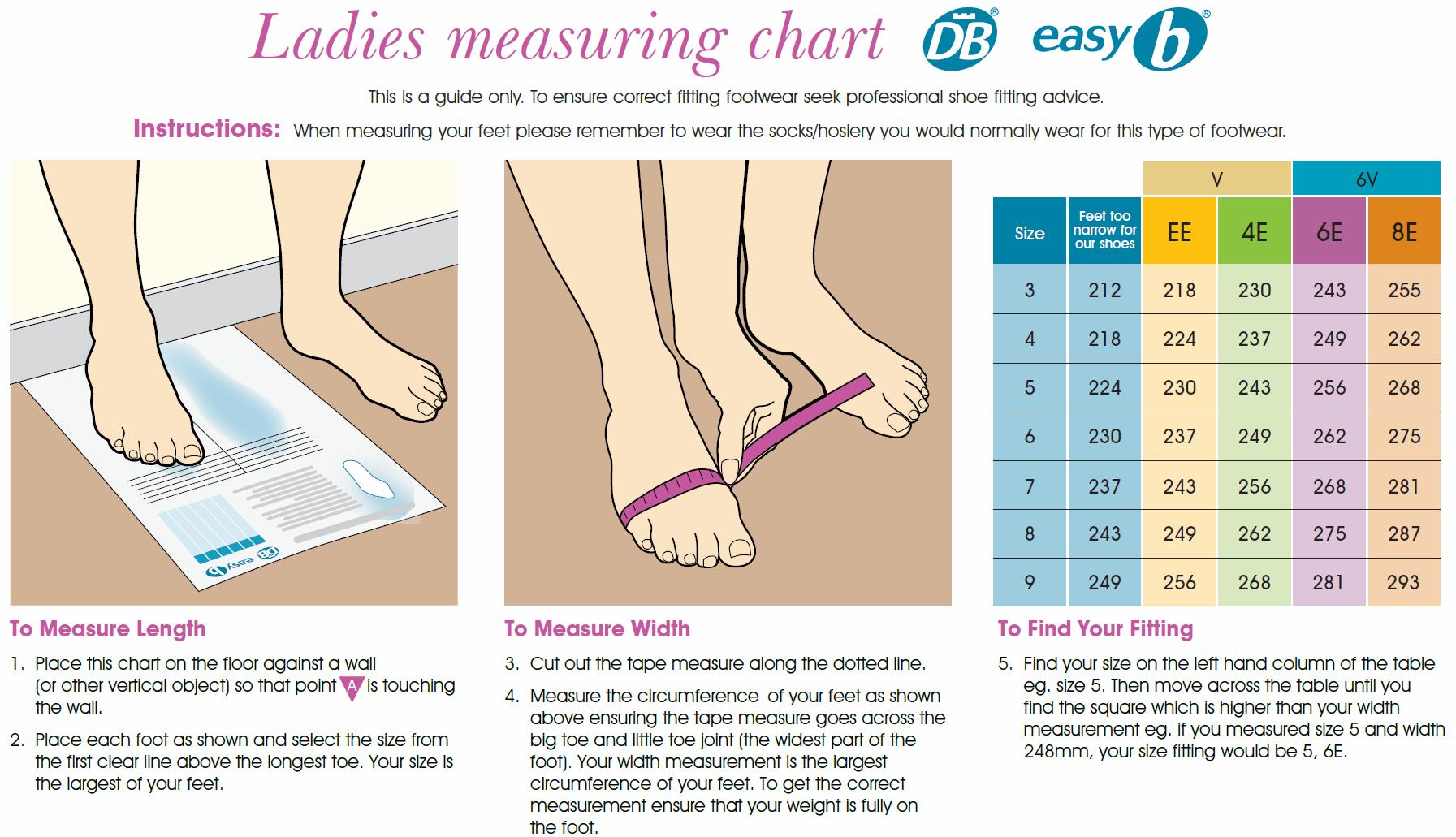 Measurement Of Actual Shoe Size