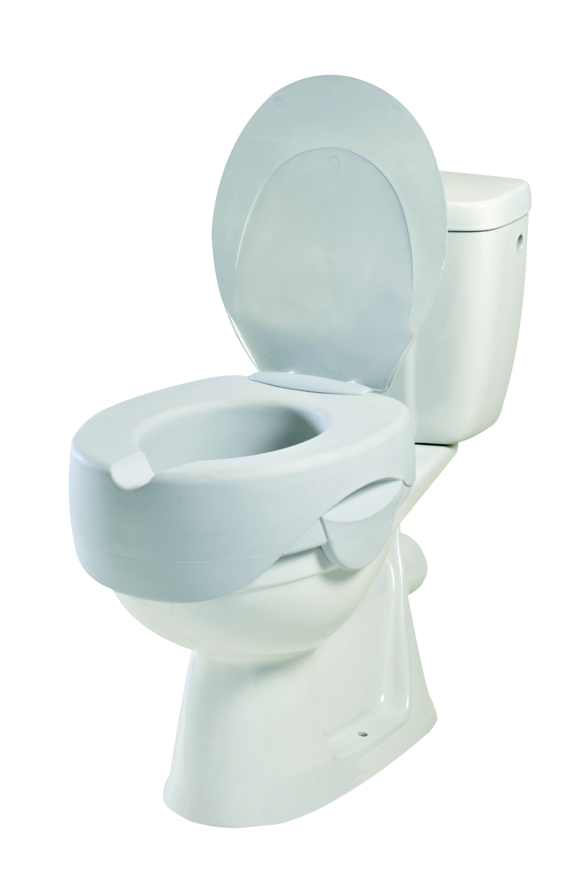 Rehosoft 4 White Soft Raised Toilet Seat With Lid EBay