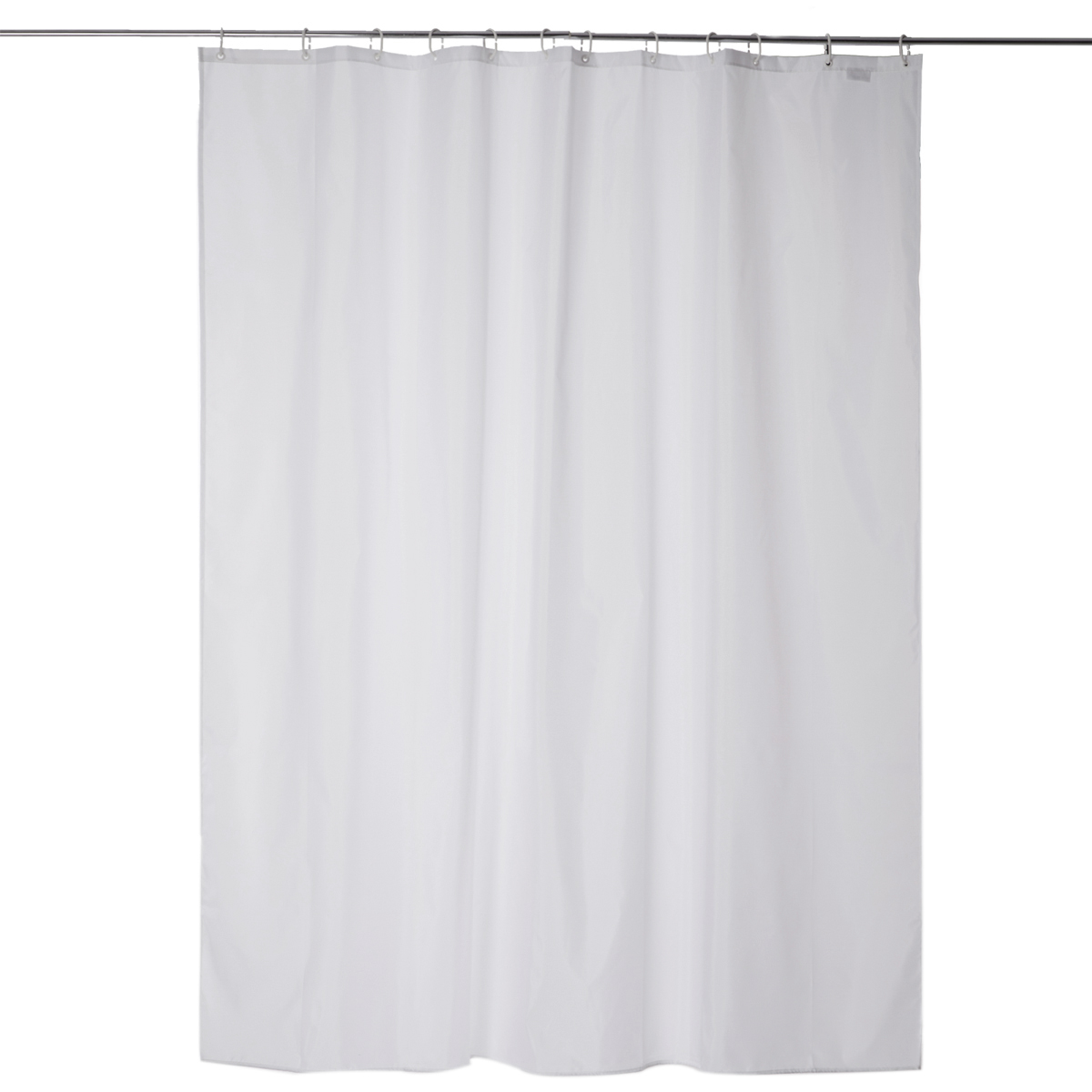 White curtain bathroom shower curtain