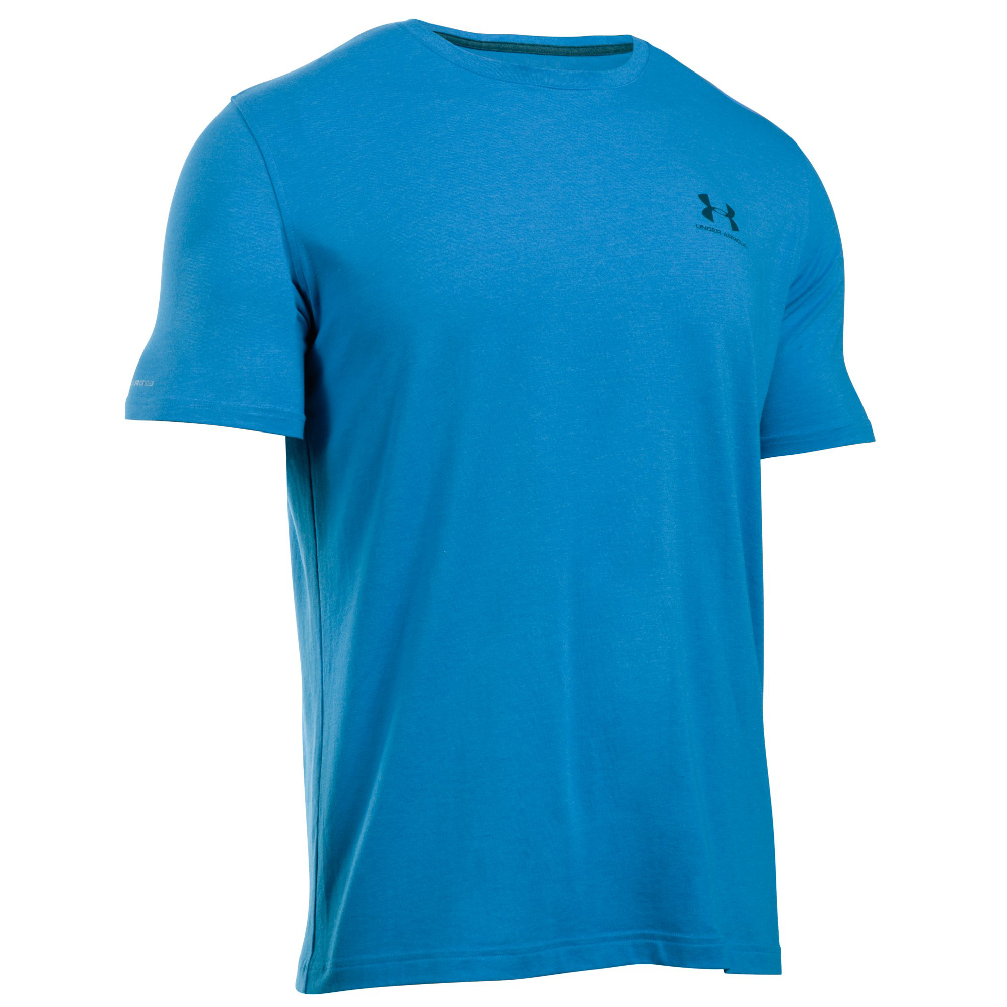 Under armour charged cotton mens logo shirt tee ebay for Under armor business shirts