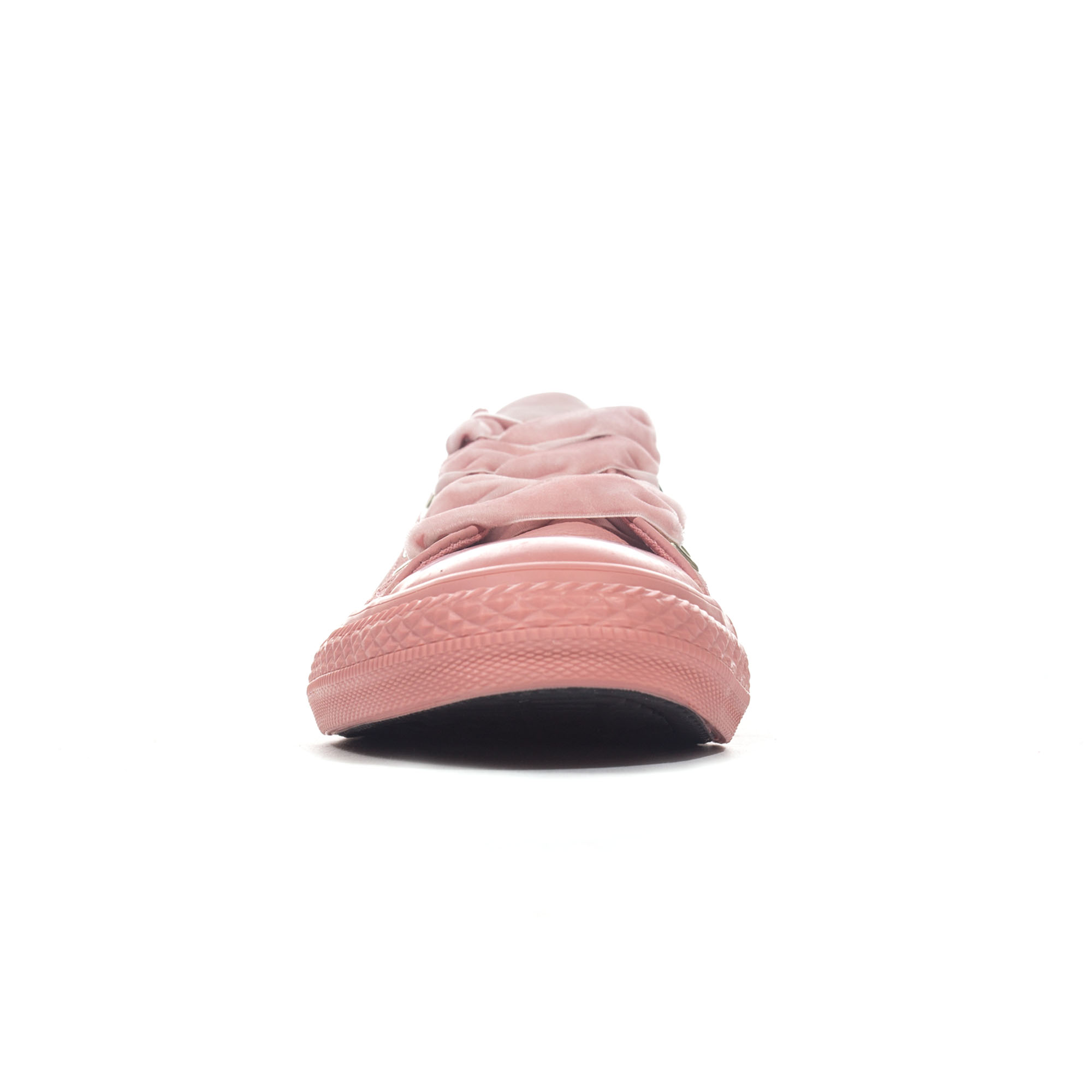 Converse Chuck Taylor All Star Big Eyelets Leather Ox Girls Trainer Rust Pink