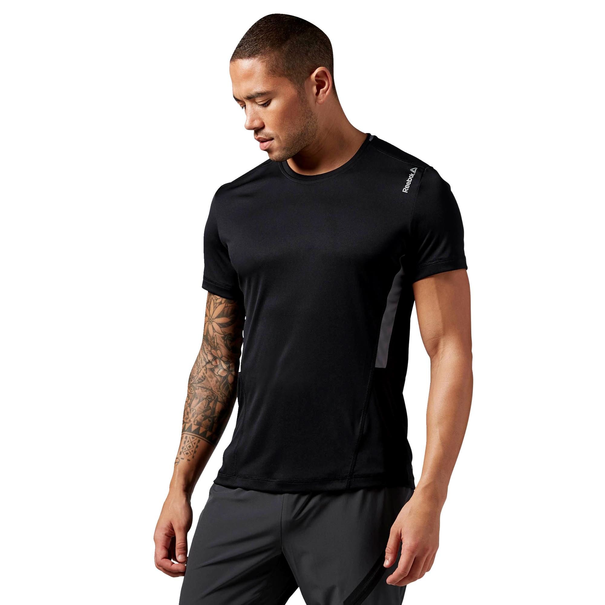 Reebok Workout Ready Mens Fitness Training Tech Shirt Tee