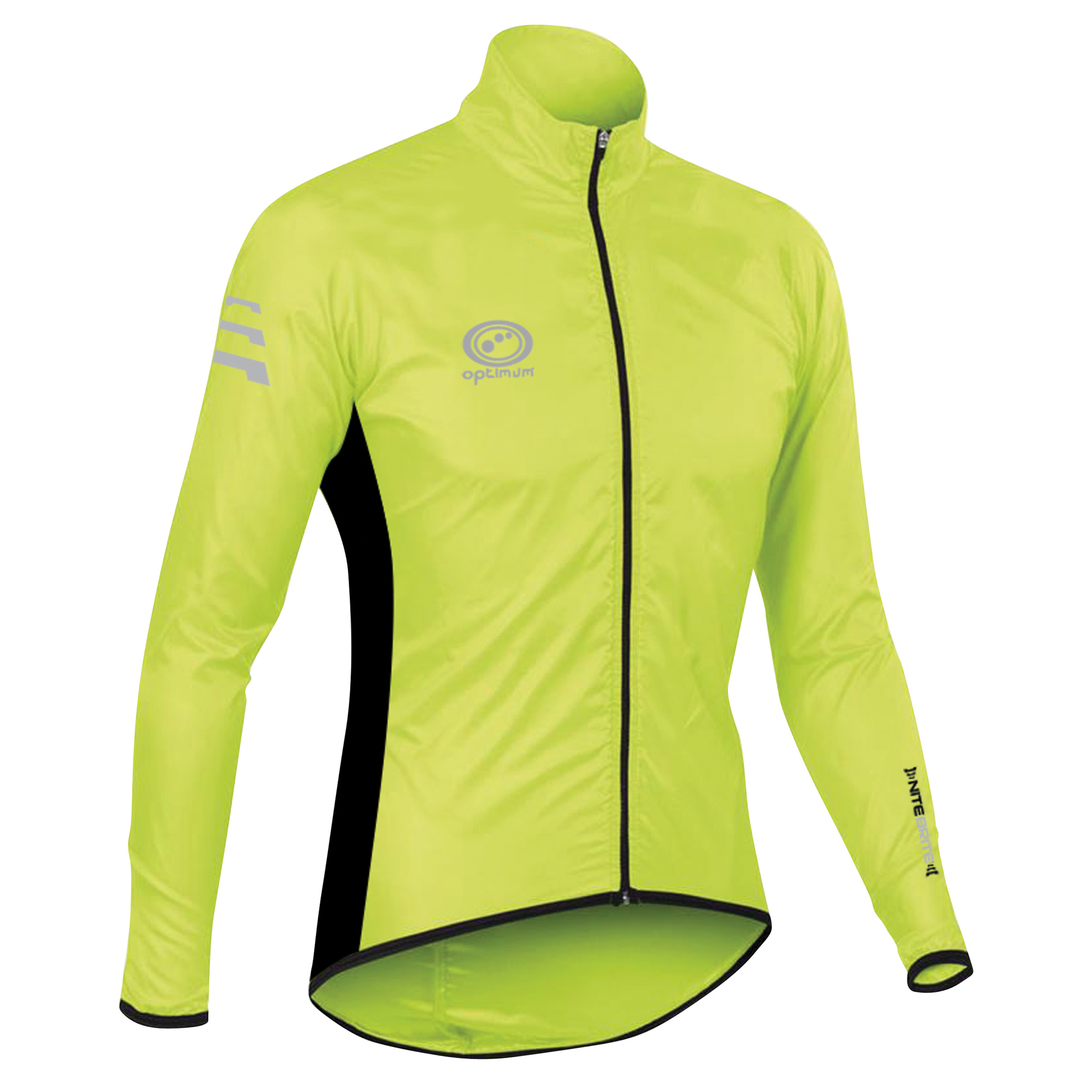 OPTIMUM Mens Nitebrite Hi-Vis Rain Jacket Running Cycling ...