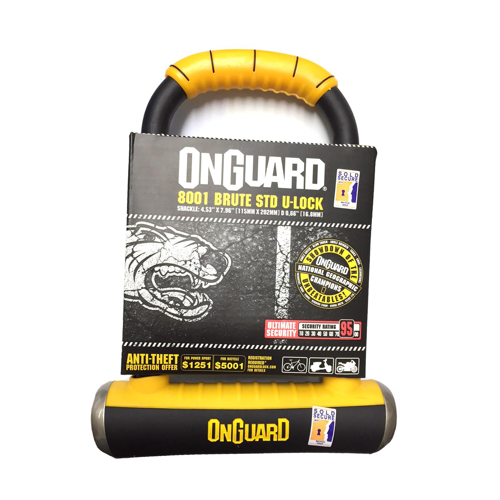 ONGUARD Brute Standard 8001 anti-vol Moto Scooter Lock Or Vendu Sécurisé