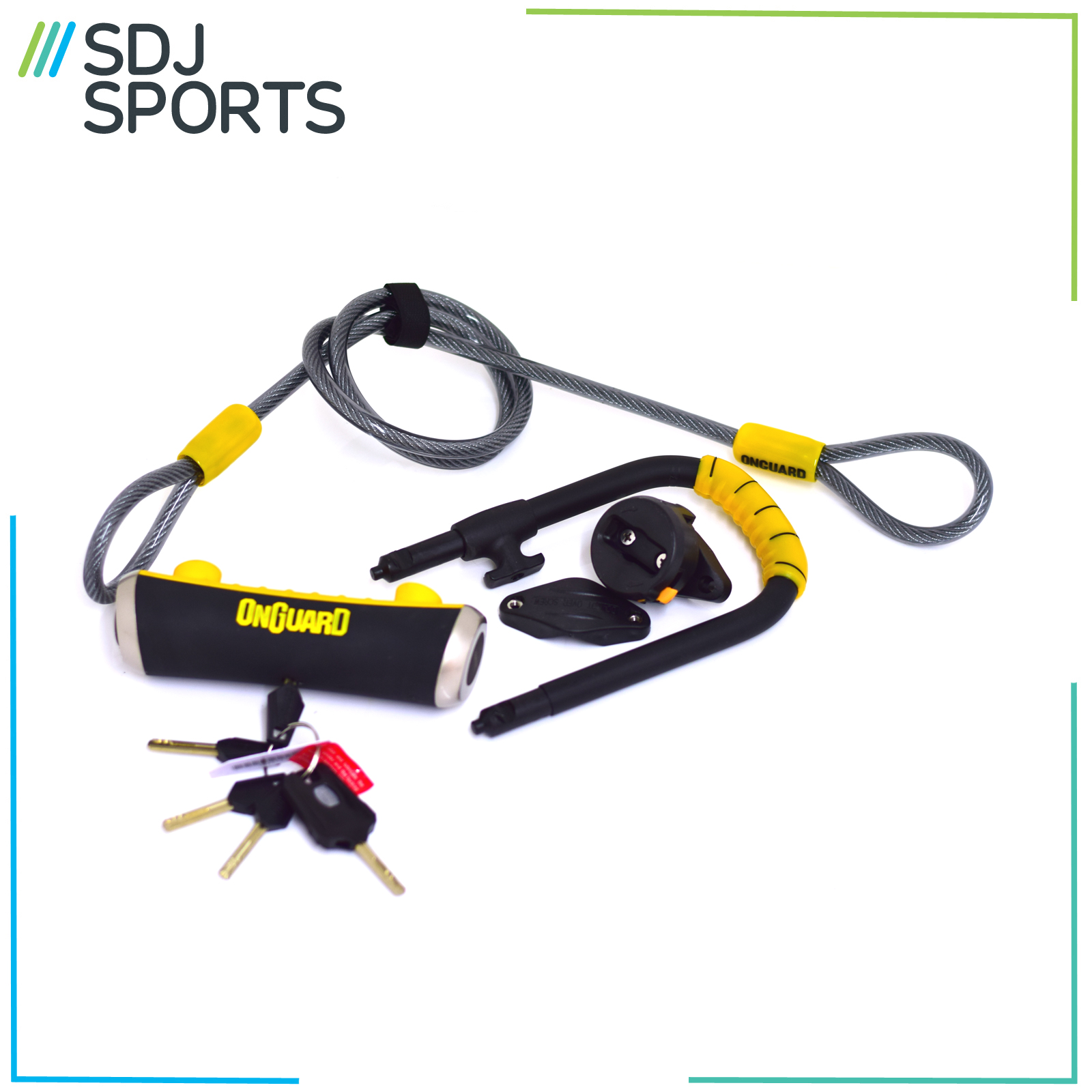 magnum onguard pitbull mini dt 8008 shackle lock cable bike d u lock ebay. Black Bedroom Furniture Sets. Home Design Ideas