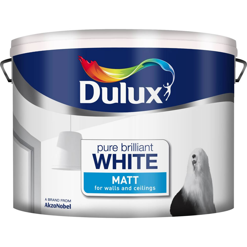 dulux retail matt paint pure brilliant white all sizes. Black Bedroom Furniture Sets. Home Design Ideas