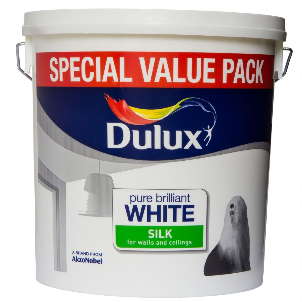 dulux retail silk paint pure brilliant white all sizes. Black Bedroom Furniture Sets. Home Design Ideas