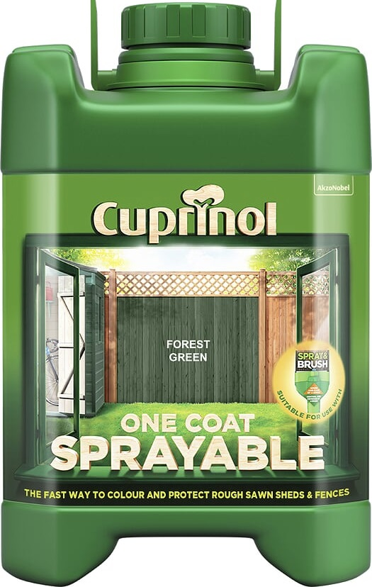 Green Sprayable Fence Paint