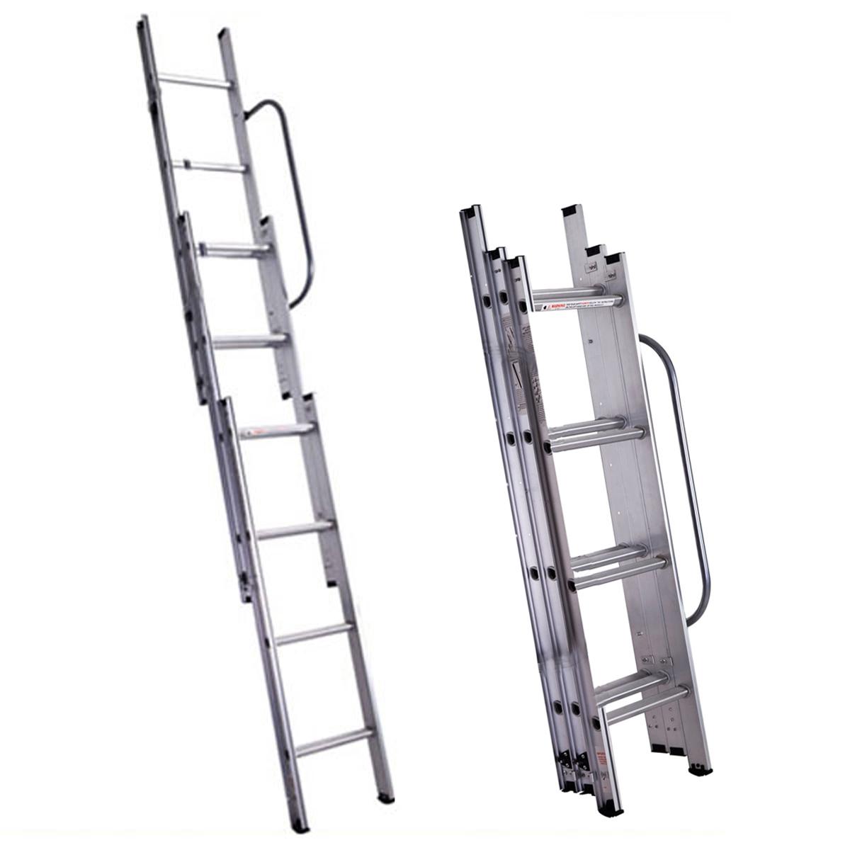 Folding Extension Ladder : Telescoping ladder deals on blocks