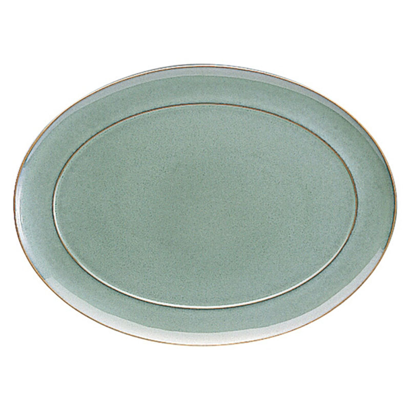 Denby Pottery Regency Green Oval Platter