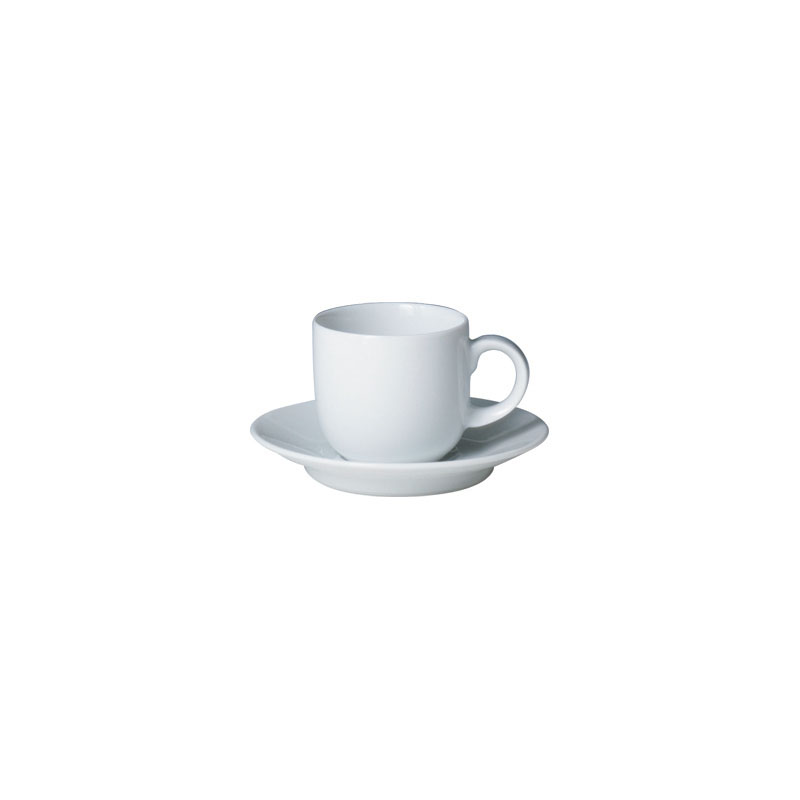 Denby Pottery White Espresso Saucer (cup sold separately)