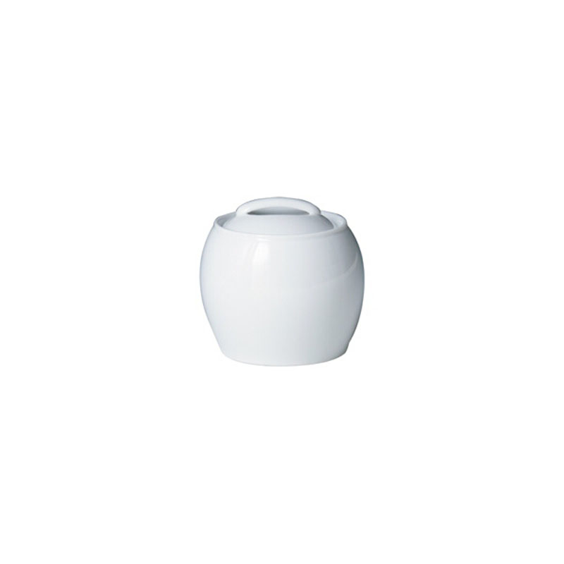 Denby Pottery White Covered Sugar Bowl