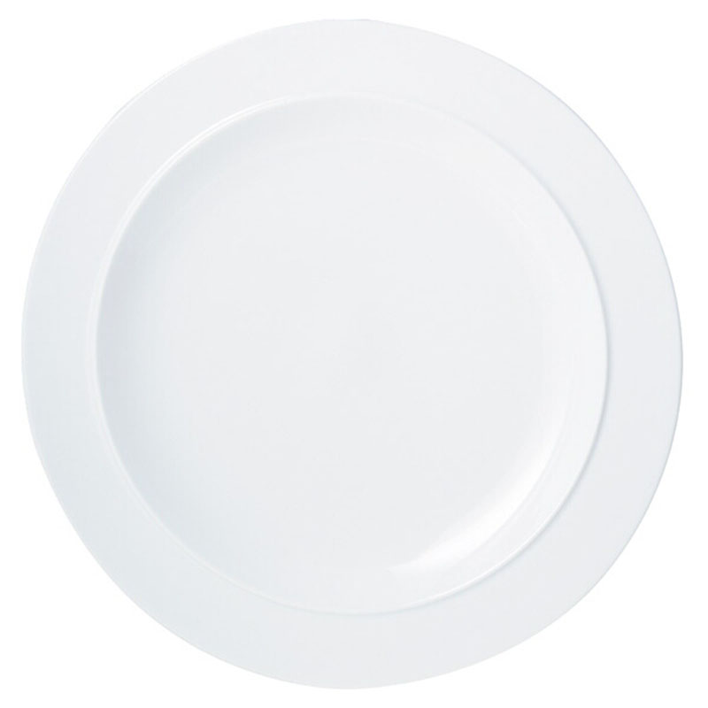 Denby Pottery White Gourmet Plate