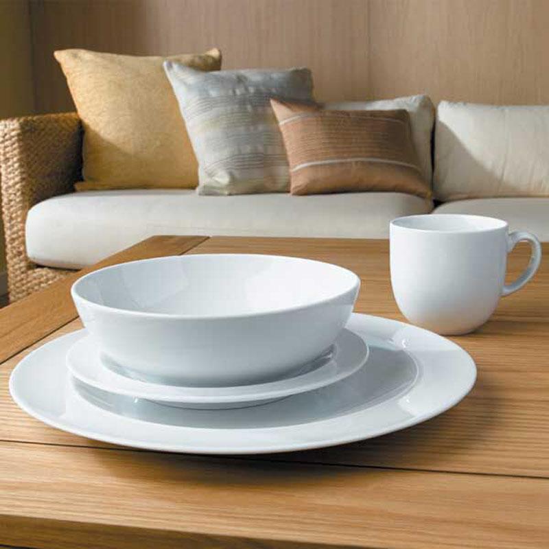Denby Pottery White 16 piece Dinner Set